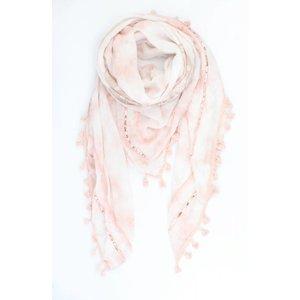 "Sjaal ""Patchwork longhorn"" roze"