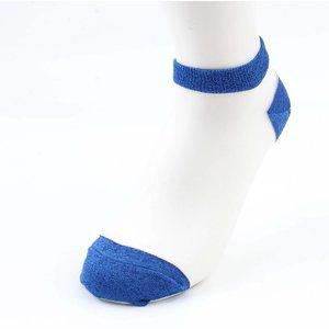 Socken Lurex weiß-blauen Doppelpack