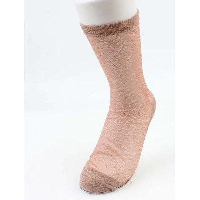 Socken-Lurex rosé