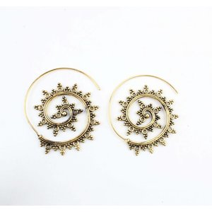 "Spiral earring ""Gypsy"" gold"