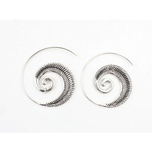 """Spiral earring """"Indian"""" silver"""