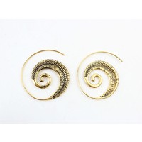 "Spiral earring ""Indian"" gold"