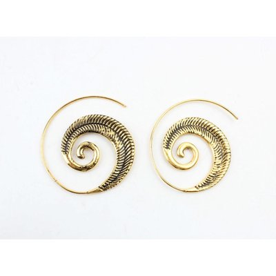 "Spirale Ohrring ""Indian"" gold"
