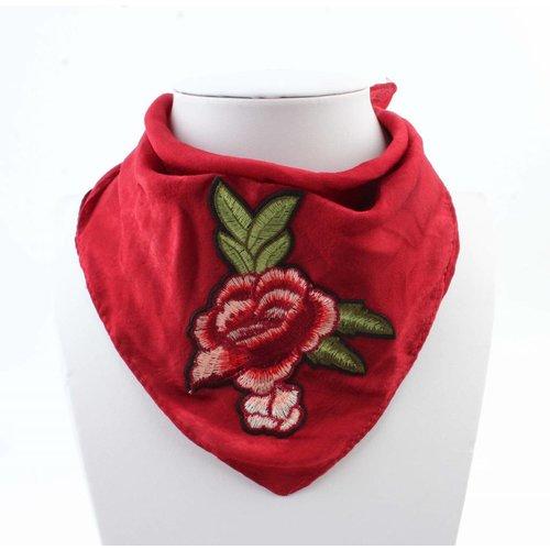 """Sjaal """"Roos"""" rood"""