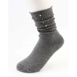"""Socks """"Strass"""" grey"""