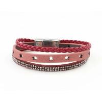 "Bracelet 3-rows ""Star"" Red"