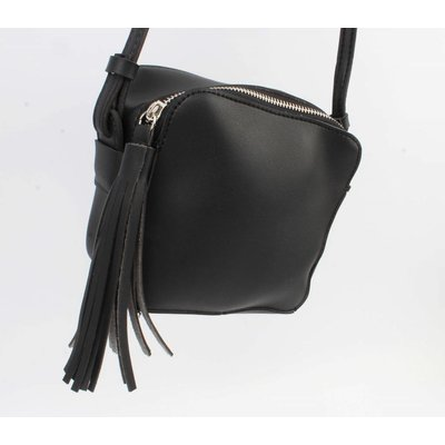 "Cross body bag ""Tassel"" black"