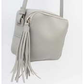 "Cross body bag ""Tassel"" grey"