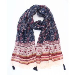 "Scarf ""Folklore"" blue"