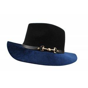 "Felt hat ""Horse bit"" blue"