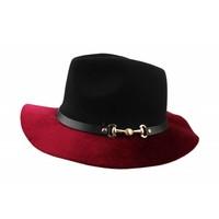 "Felt hat ""Horse bit"" Red"