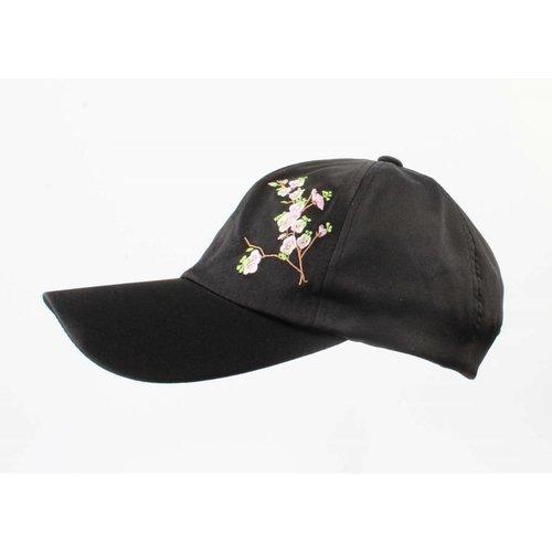 """Cap """"Japanese flower"""" black"""