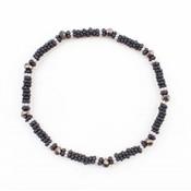 """Armband klein""""Metalen rings""""  zwart"""