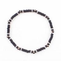 "Bracelet small ""Metal rings"" black"