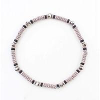 "Bracelet small ""Metal rings"" grey"