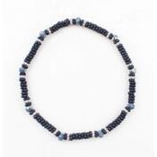 """Bracelet small """"Metal rings"""" navy"""