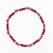"Bracelet small ""Metal rings"" Red"