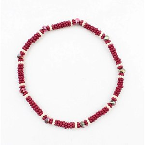 "Armband klein""Metalen rings""  rood"
