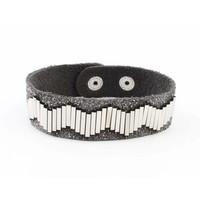 """Bracelet """"Metal pipes"""" grey"""