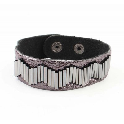 "Bracelet ""Metal pipes"" anthracite"