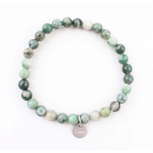 Armband natuursteen jade