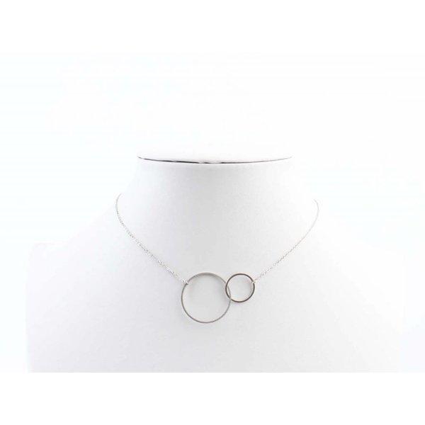 "ketting ""Dubbel ring"" zilver"