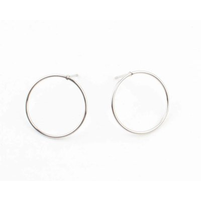 """Earring """"Round"""" silver"""