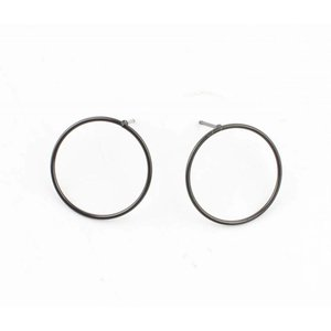 "Earring ""Round"" anthracite"
