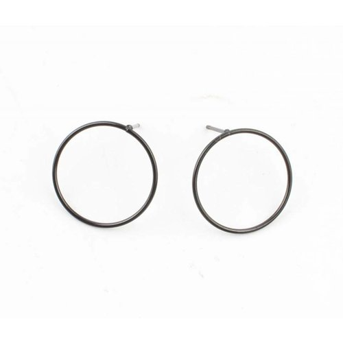 """Earring """"Round"""" anthracite"""