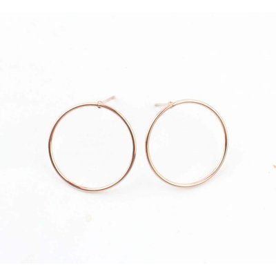 "Earring ""Round"" Stainless steel rosé"