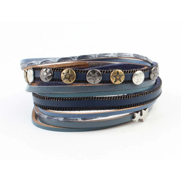 "Armband ""Ster & Stud""  jeans"