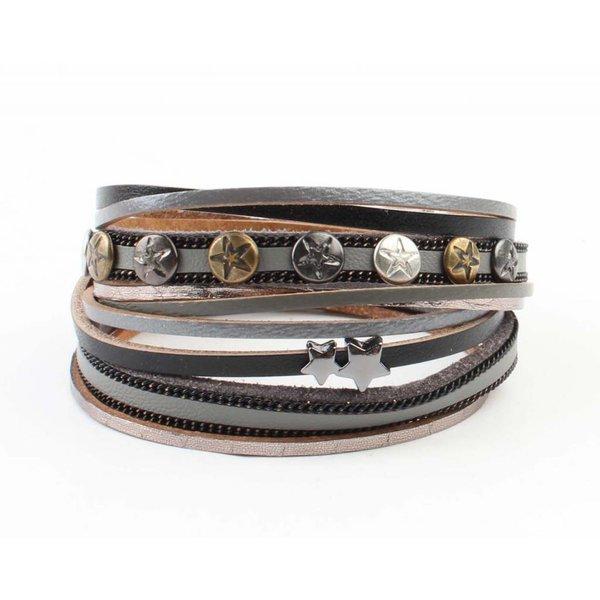 "Armband ""Ster & Stud""  zwart"