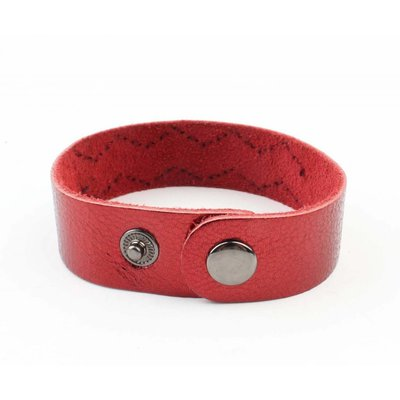 """Armband """"Metalen buizen"""" rood"""