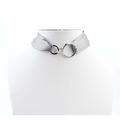 """Multi necklace """"Bow"""" grey"""