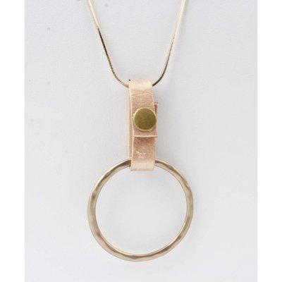 """Lange Halskette """"Ring"""" braun"""