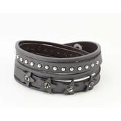 "Wrap bracelet ""Ster & Dot"" gray"