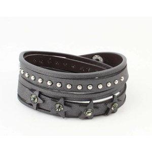 "Armband ""Ster & Dot"" grijs"