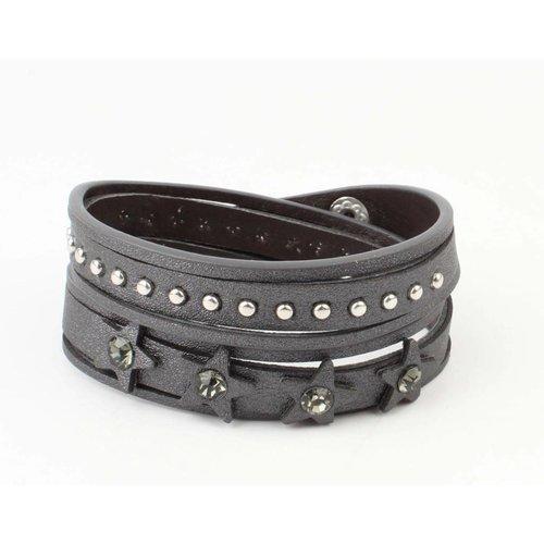 "Armband ""Star & Dot"" grau"