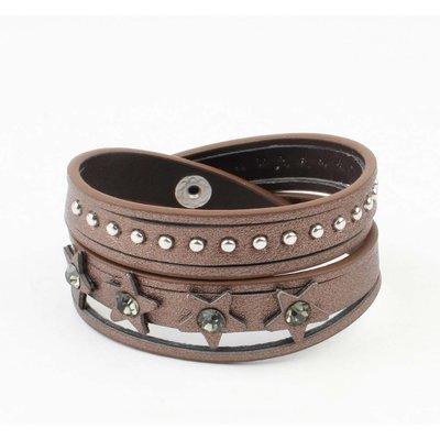 "Bracelet ""Star & Dot"" brown"