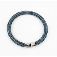 "Armband ""Strass"" blauw"