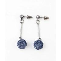 """Earring """"Rhinestone ball"""" blue"""