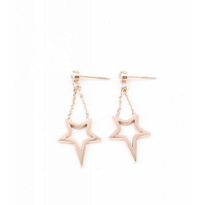 "Earring ""Star"" stainless steel rosé"