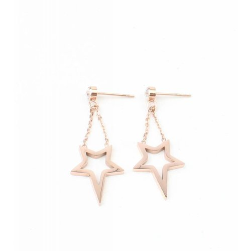 "Earring ""Star"" stainless steel rosé"