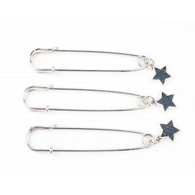 """Pin """"Star"""" blue, per 3pcs."""