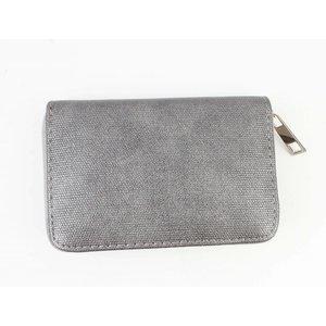 "Wallet ""Metallic canvas"" grey"
