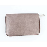 "Wallet ""Metallic canvas"" brown"