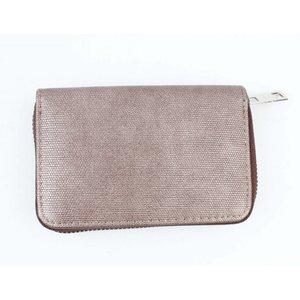 "Wallet ""Metallic canvas"" brown"