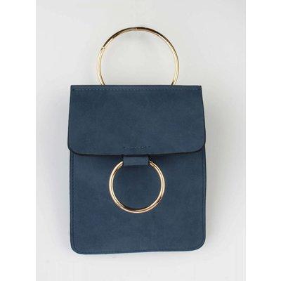 """Crossbody tas """"Dubbel ring"""" blauw"""