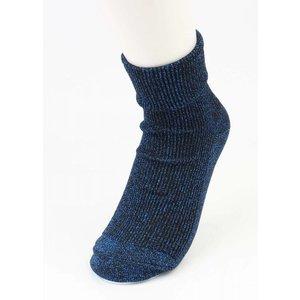 """Socks """"Uni lurex"""" blue, per 2 pairs"""