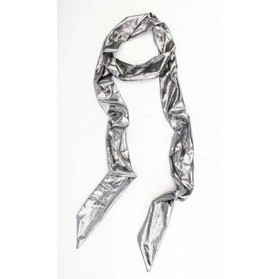 "Skinny Schal ""Uni Krawatte"" silber"